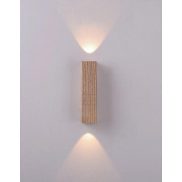 Aplica LED decorativa 6W SABER iluminare sus jos lemn stejar natur lumina calda