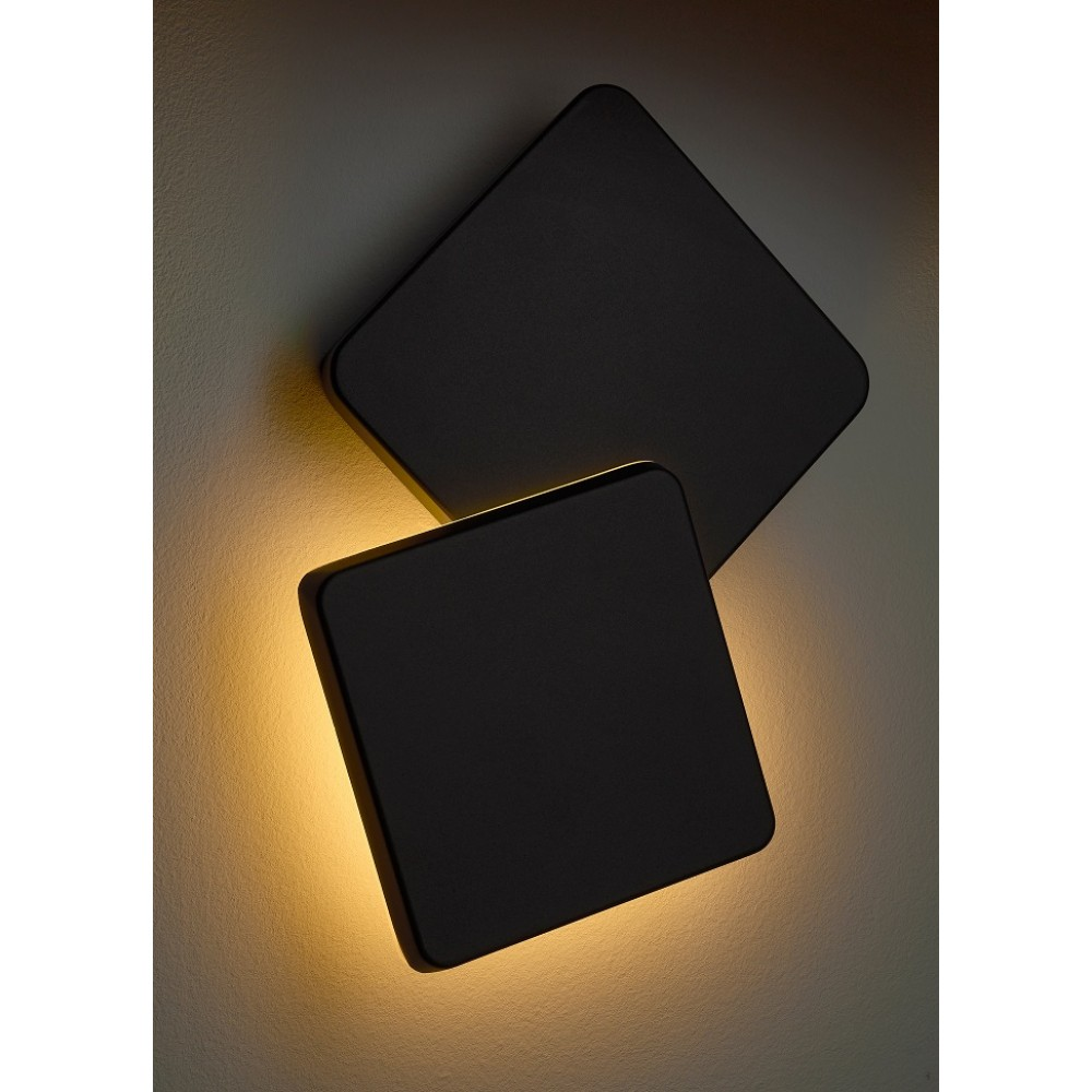 Aplica LED de exterior 12W patrata orientabila NIKU SCHRACK antracit lumina calda