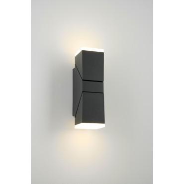 Aplica LED de perete 12.5W orientabila Evo Square SCHRACK iluminare sus/jos antracit lumina calda