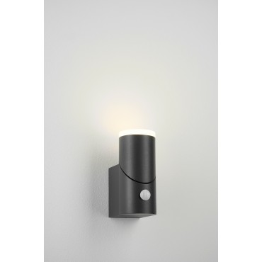 Aplica LED de perete cu senzor 8W orientabila Evo Round Up SCHRACK antracit lumina calda