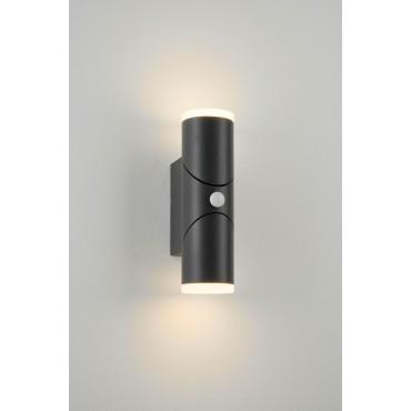 Aplica LED de perete cu senzor 12.5W orientabila Evo Round SCHRACK iluminare sus/jos antracit lumina calda