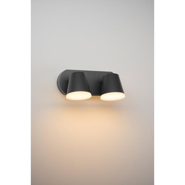 Aplica LED de exterior 20W dubla Zeta SCHRACK antracit lumina calda
