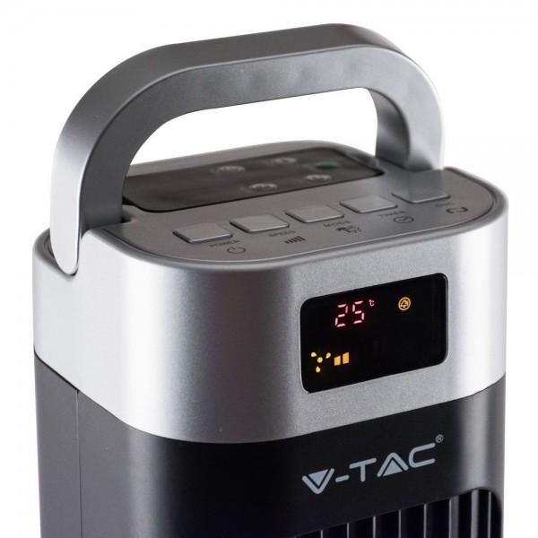 Ventilator turn 55W Negru cu telecomanda - 46 inch
