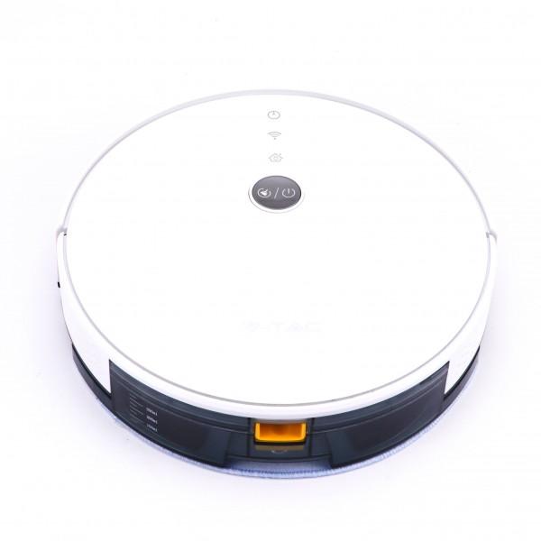 Robot de aspirare cu mop V-TAC Alb compa...