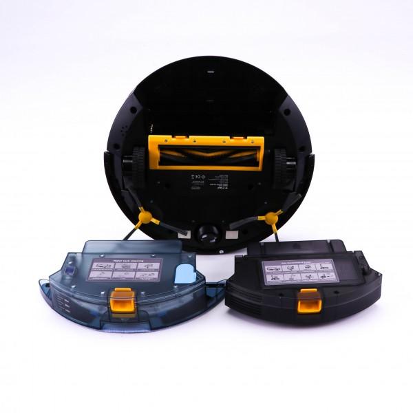 Robot de aspirare cu mop V-TAC Negru compatibil cu AMAZON ALEXA si GOOGLE HOME