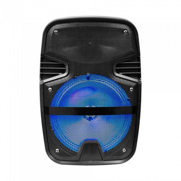 Boxa portabila tip troller 15W cu microfon telecomanda si lumini RGB - 8 inch