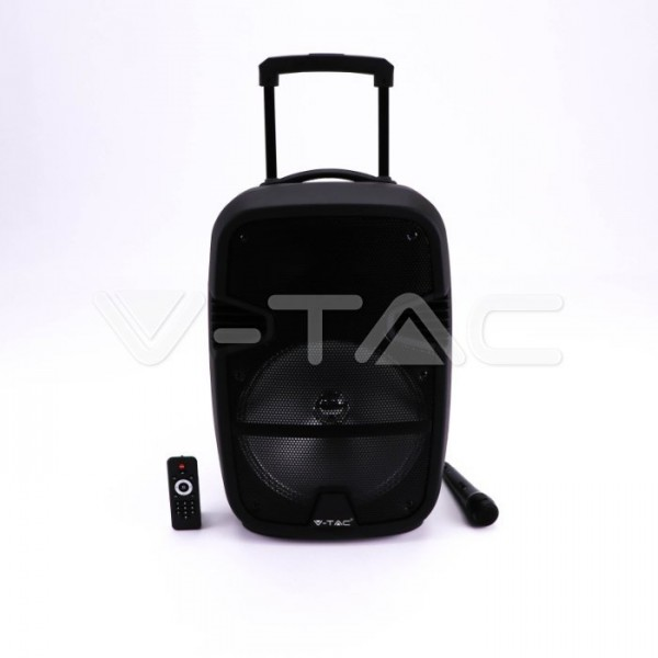 Boxa portabila tip troller 35W cu microfon telecomanda si lumini RGB model 2- 12 inch
