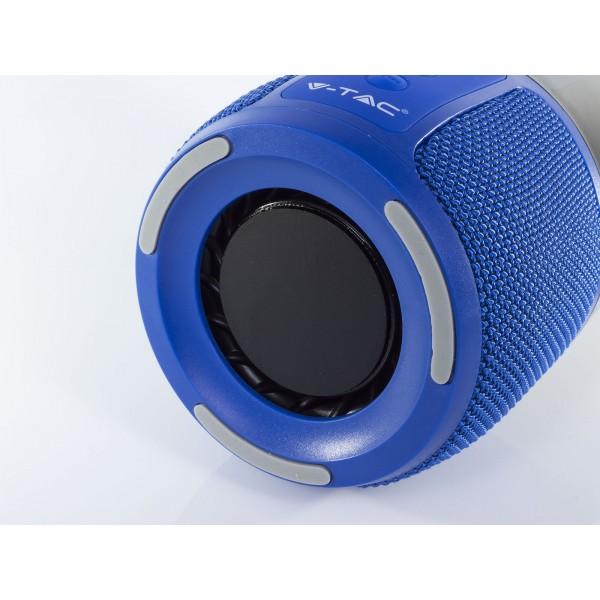 Lampa LED de birou inteligenta RGB WiFi albastra cu boxa portabila 2*3W cu bluetooth USB intrare AUX si micro card SD