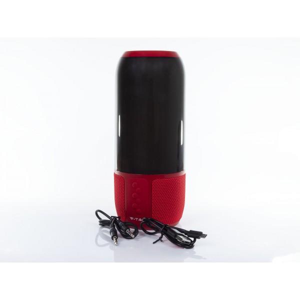 Lampa LED de birou inteligenta RGB WiFi rosie cu boxa portabila 2*3W cu bluetooth USB intrare AUX si micro card SD