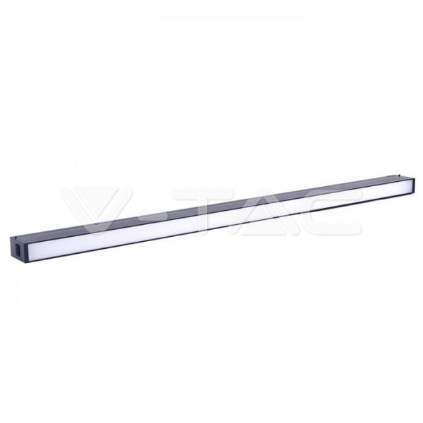 Corp LED liniar magnetic 30W Corp Negru Alb Cald