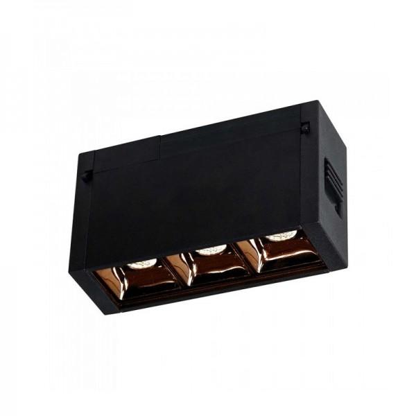 Spot LED liniar magnetic 3W Corp Negru Alb Cald