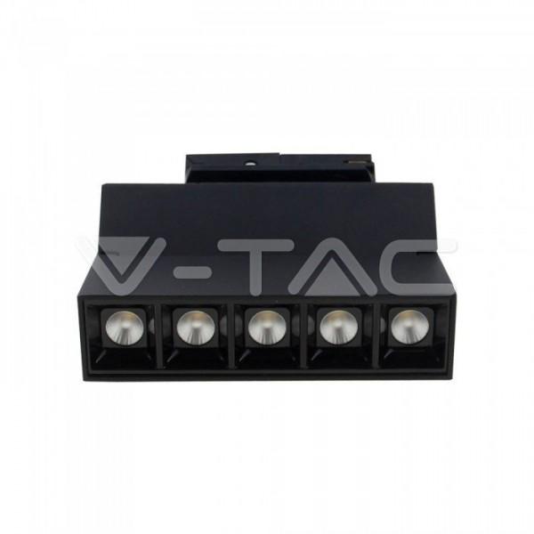 Spot LED liniar magnetic GIMBAL 10W Corp Negru Alb Cald
