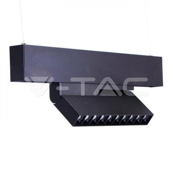 Spot LED liniar magnetic GIMBAL 20W Corp Negru Alb Cald