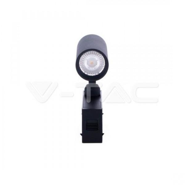 Proiector LED magnetic 15W Corp Negru Alb Cald