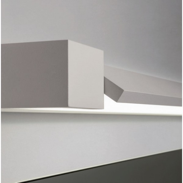 Aplica LED de perete 24W FLIPPER 900mm orientabila alb mat IP44 lumina calda