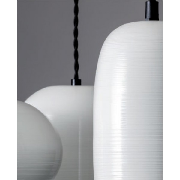 Pendul aluminiu HAYLEN 250mm soclu E27 IP20 crem lucios