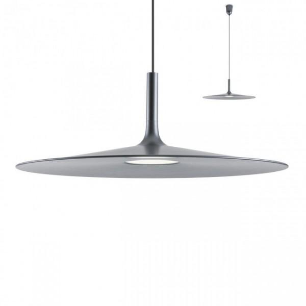 Pendul LED 12W KAI 550mm lumina calda alb negru