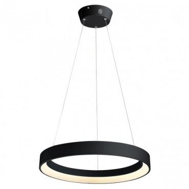 Suspensie LED 48W LOOP 600mm alb negru mat lumina calda