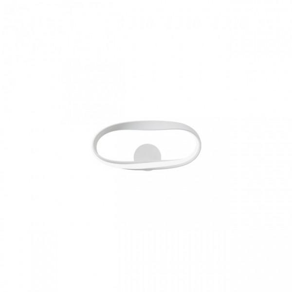 Aplica LED decorativa 12W NUBO 380mm negru alb mat