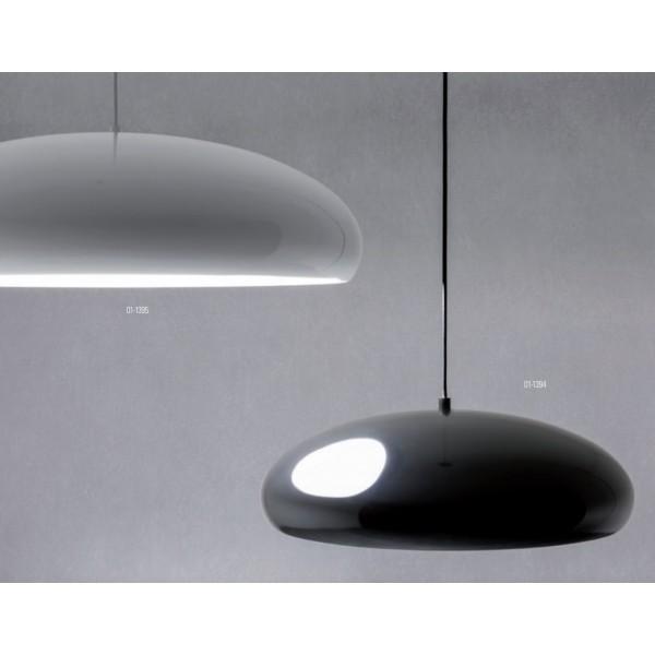 Pendul aluminiu TUTU 450mm soclu E27 IP20 negru alb lucios