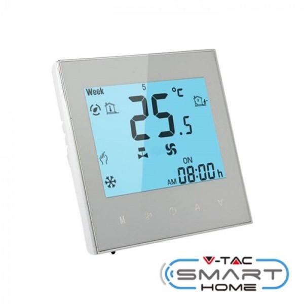 Termostat Wifi V-TAC cu ventilator compatibil compatibil cu AMAZON ALEXA si GOOGLE HOME