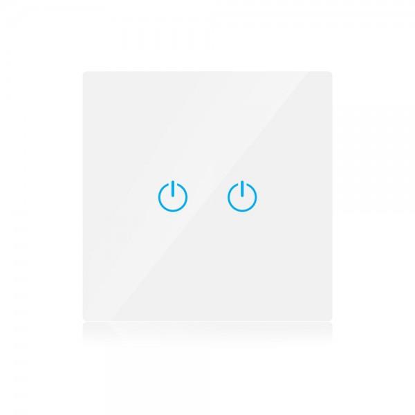 Intrerupator dublu alb 1 circuit 2 comutatoare