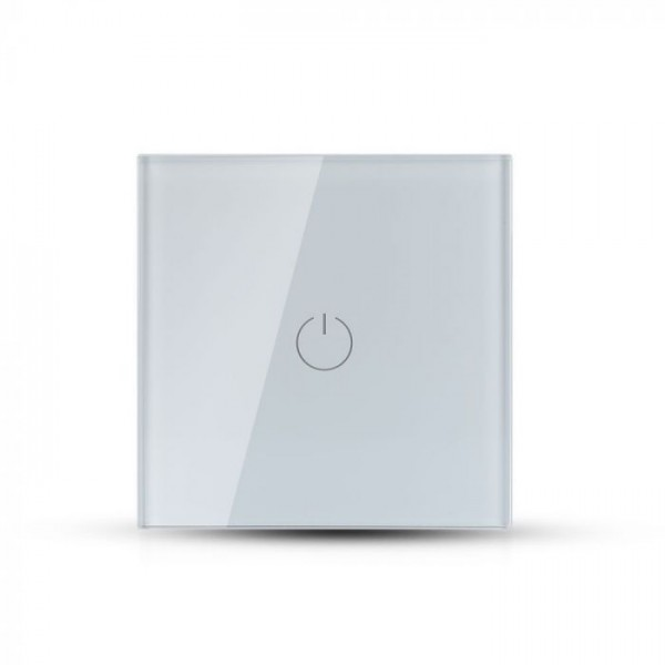 Intrerupator alb 1 comutator WIFI compatibil cu AMAZON ALEXA si GOOGLE HOME