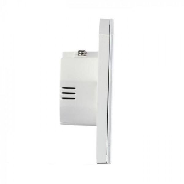 Intrerupator alb 2 comutatoare WIFI compatibil cu AMAZON ALEXA si GOOGLE HOME