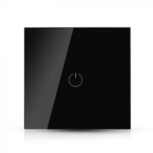 Intrerupator negru 1 comutator WIFI compatibil cu AMAZON ALEXA si GOOGLE HOME