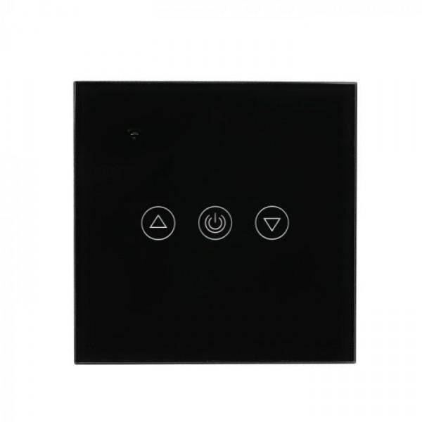 Intrerupator negru cu dimmer WIFI compatibil cu AMAZON ALEXA si GOOGLE HOME