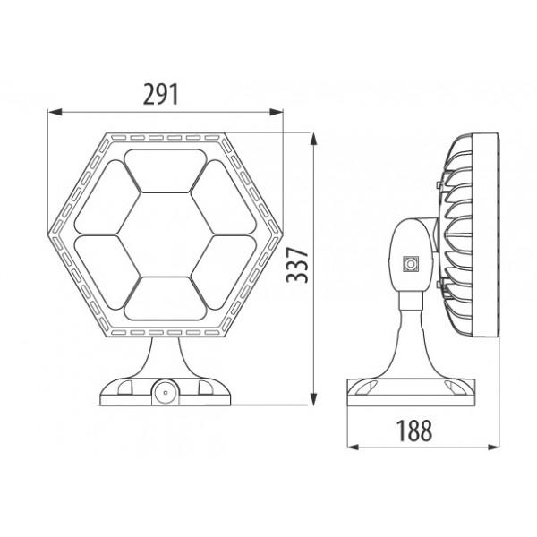 Proiector LED GEWISS ESALITE 52W 90 de grade Alb Neutru