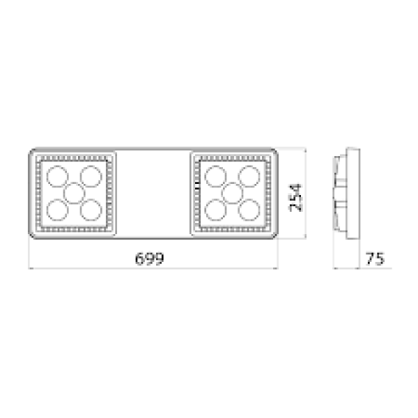 Proiector LED GEWISS Smart 4 118W