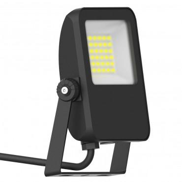 Proiector LED 30W Capri Basic SCHRACK Corp Negru Alb Cald