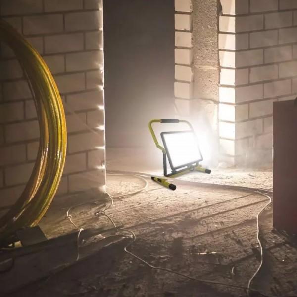 Proiector LED 100W cip SAMSUNG corp negru cu stand H cablu 3m priza europeana