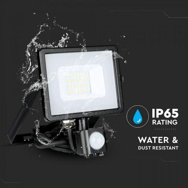 Proiector LED cu senzor 20W Cip SAMSUNG Corp Negru Alb Neutru