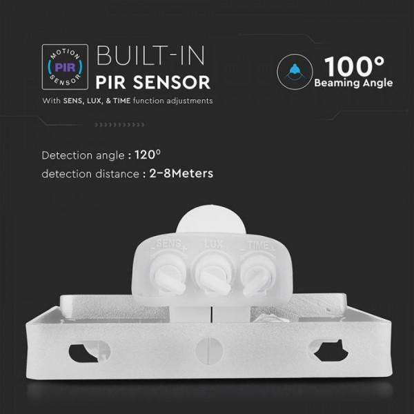 Proiector LED cu senzor 30W Cip SAMSUNG Corp Alb Alb Rece