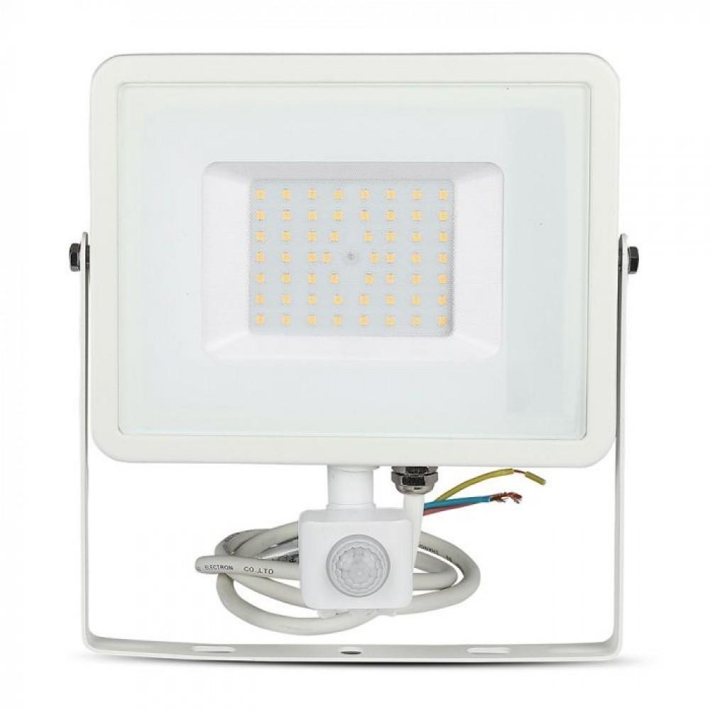 Proiector LED cu senzor 50W Cip SAMSUNG Corp Alb Alb Neutru