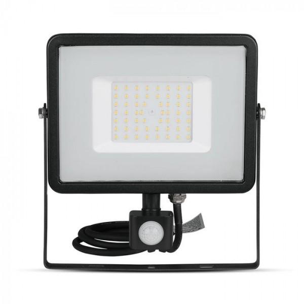 Proiector LED cu senzor 50W Cip SAMSUNG Corp Negru Alb Neutru