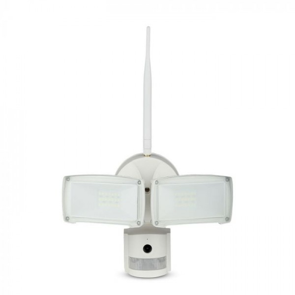 Proiector LED 18W Senzor WiFi si Camera Alb Rece