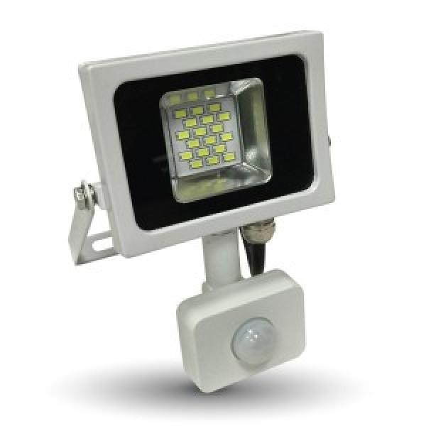 Proiector LED 10W Corp Alb cu Senzor SMD Alb Cald