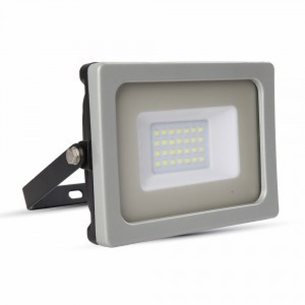 Proiector LED 20W Corp Gri Negru SMD Alb Cald