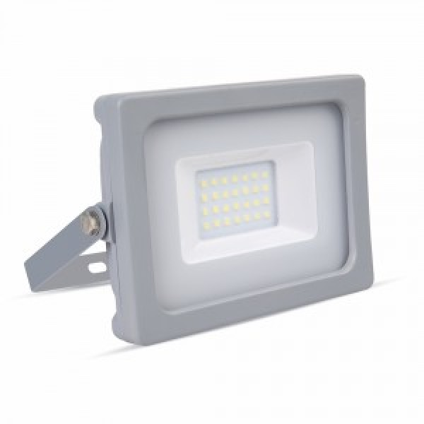 Proiector LED 20W Corp Gri SMD Alb Rece