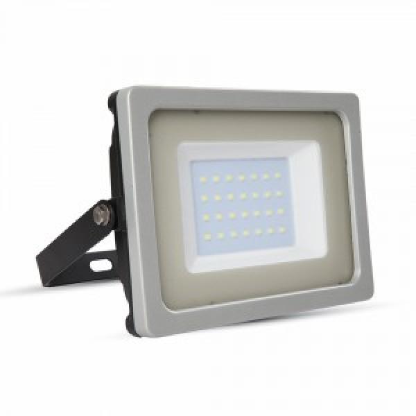 Proiector LED 30W Corp Gri Negru SMD Alb Cald