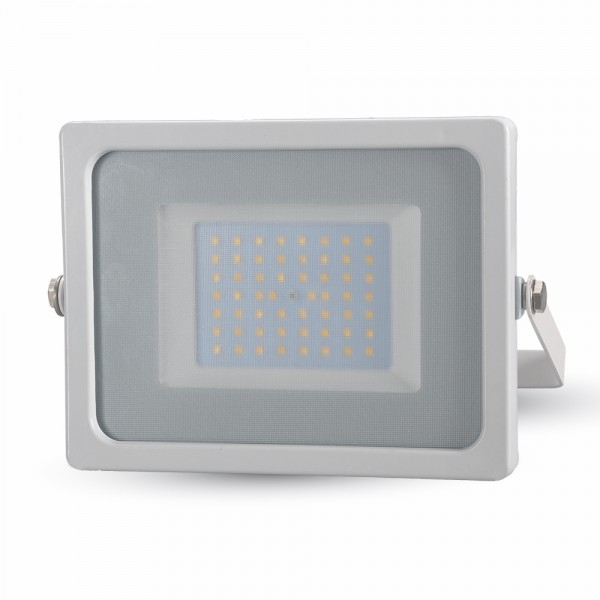 Proiector LED 50W Corp Alb SMD Alb Rece