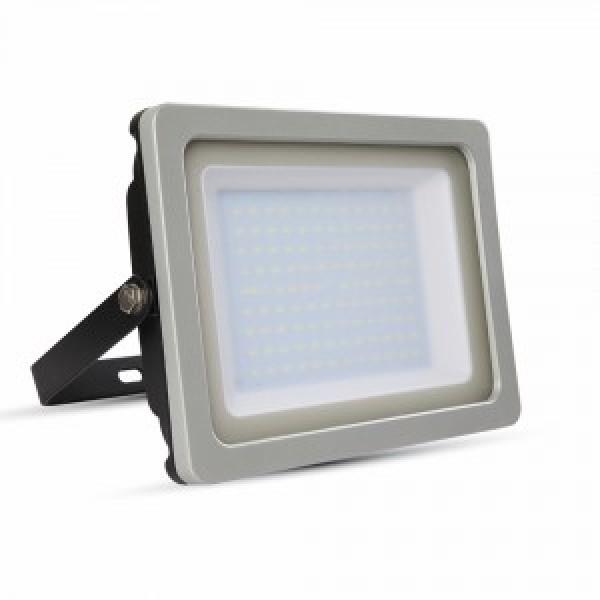 Proiector LED 100W Negru Gri SMD Alb Cald