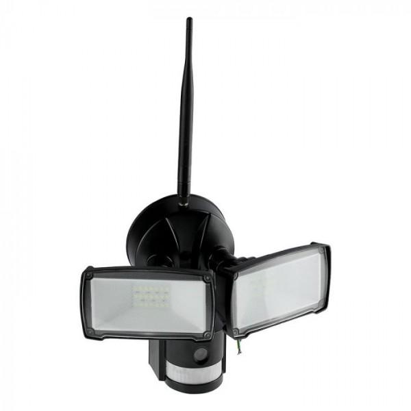 Proiector LED 18W Senzor WiFi si Camera Alb Rece Corp Negru