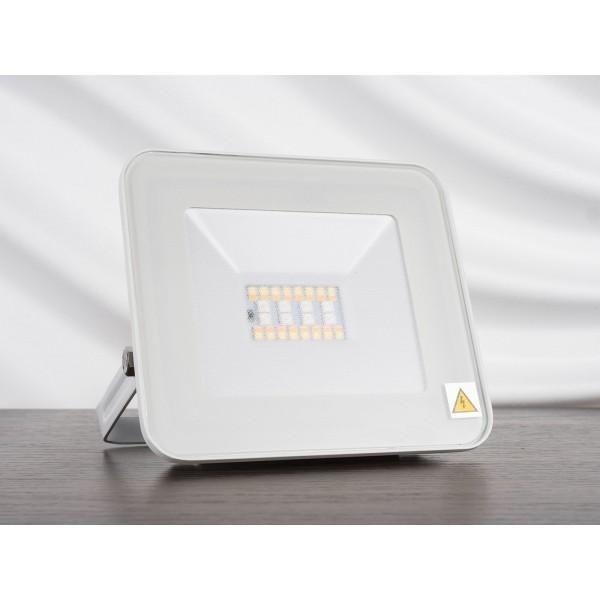Proiector LED Smart 20W cu Bluetooth RGB + alb cald, neutru, rece Corp Alb