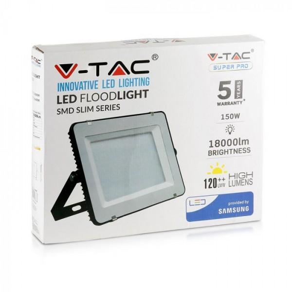 Proiector LED 100W Cip Samsung 120lm/W Corp Negru Alb Rece