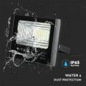 Proiector LED negru 12W Alb Neutru cu panou solar