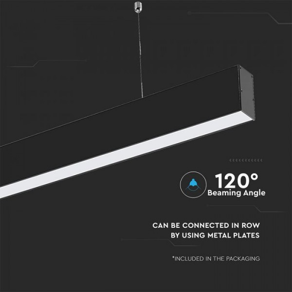 Corp de iluminat cu LED interconectabil suspendat 40W CIP SAMSUNG 120cm Alb Neutru Corp Negru